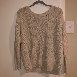 Urban Outfitters cream knit sweater